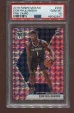 Zion Williams RC 2019-20 Panini Mosaic Pink Camo #209 Rookie PSA 10 GEM MINT!
