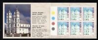 Latvia Sc 492 1999 Aglona Basilica Philex France 99 stamp booklet mint NH