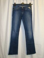 Women's REPLAY W442 slim bootcut stretch blue jeans W26 L34 great cond LOVELY