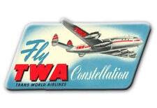 "TWA Airlines Constellation Logo Fridge Magnet 3.25""x2.25"" Collectibles (LM14068)"