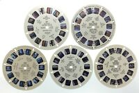 Lot Of 5 United States National Parks 1940s Sawyers Reels View Master S441