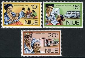 Niue 196-198, Mi 175-177, MNH Personnel (Social) Services. Mère,Enfant,1977