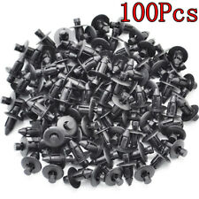 100 Pcs 7mm Car Push Retainer Rivets Clips Door Bumper Fender Cover For Toyota