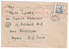 US CIVIL CENSORSHIP MUNICH GERMANY ROTAVA  czechoslovakia  L1221