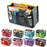 Casual Travel Insert Makeup Cosmetic Bag Handbag Storage Organizer Tidy Bag D