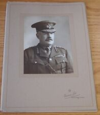 RARE LARGE BASSANO PHOTO SIGNED BY GENERAL SIR WILLIAM ROBERTSON WORLD WAR I