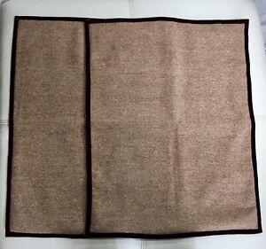 2 Ralph Lauren Brittany Tweed Wool Red Velvet Checked Standard Pillow Sham