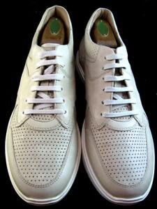 "NEW Allen Edmonds ""OSBORN"" Dress Casual Sneakers 10 D Bone  (675)"