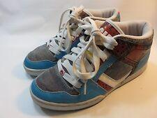 "OSIRIS Multi-Colored Leather/Textile ""Boarder"" Sneakers Women's Size 9 EUC"