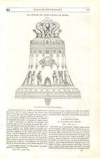 Grande Cloche de Saint-Pierre de Rome fondu sous le Pape Pie VI GRAVURE 1840