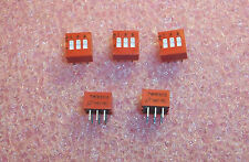 QTY (54) 78RB03 GRAYHILL 3 POSITION RECESSED SLIDE DIP SWITCH NOS 2 TUBES