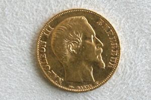 Pièce 20 Francs OR Napoléon III - Tête Nue - 1855 - BON ETAT voir photos