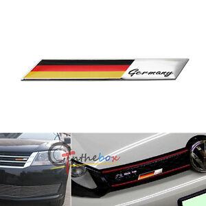 Germany Flag Emblem Badge Aluminum Plate  For Car Front Grille Side Fender Trunk