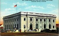 Postcard CO Colorado Springs US Post Office and Federal Court House UNPOSTED