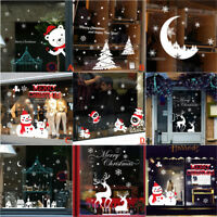 Mural Removable Wall Sticker Decal Merry Christmas Store Decor Window Sticker