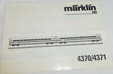 Märklin 4370/4371 Manuel