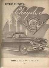 REVUE TECHNIQUE AUTOMOBILE 84 RTA 1953 CHRYSLER C52 C53 C54 C55 SOMUA JL15 JL17