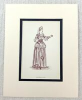 1889 Antico Stampa Mistress Pagina Costume Shakespeare Il Merry Wives Di Windsor