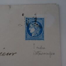 Cérès N° 60A Variety Letter Cover Variety Net Surround South Broken