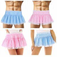Women Mens lace Sissy Skirt Fancy Dress Costume Pleated Short Mini Skirt Shorts