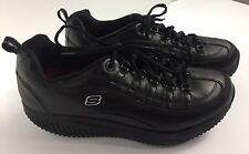 SKETCHERS WORK SHAPE-UPS TENNIS SHOES WOMENS BLACK SIZE 9.5 SLIP RESISTANT GREAT