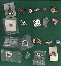 Lot 20 Vintage Various Enamel Lapel Hat Pins Press Micky Apple Flags Star Trek