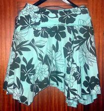 Cotton Floral Plus Size Asymmetrical Skirts for Women
