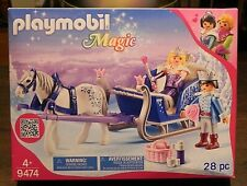 Playmobil Magic 9474 Winter Princess Prince Horse Sleigh 46 pcs. NEW