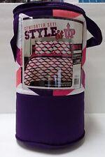 Bedding Comforter Set with Sham Storage Tote Purple Twin College Comfort Bed