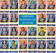 Topps Champions League Match Attax 2017 2018 18 Full set of 22 Pro 11 LIVE Cards