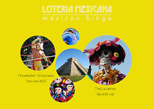Fun Mexican Loteria/Bingo Family Game * Bilingual * Spanish & English