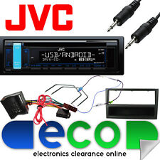 Vauxhall Astra H MK5 JVC CD MP3 USB Car Stereo & GREY Fitting Kit + Jack Cable