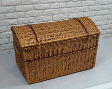 WICKER CHEST STORAGE Trunk Solution Willow Box Toy Blanket Large Pirate bar 80cm