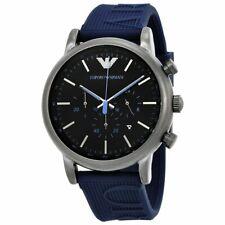 EMPORIO ARMANI Luigi Chronograph Black Dial Men's Watch AR11023