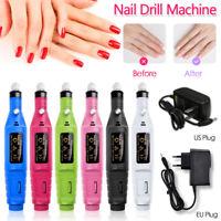 ⭐ Nail File Drill Kit Electric Manicure Pedicure Acrylic Portable Salon KD