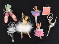 Ballerina Ornaments Lot of Six Ballet Dance Christmas Holiday Tutu Dance Mom