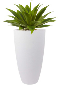 La Jolie Muse Tall Planters Outdoor Indoor - Tree Planter 20 Inch Modern White F