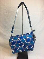 JU-JU-BE Better Be Sapphire Lace Messenger Baby Diaper Bag + Changing Pad NEW