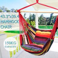 43.3 '' x39.4'' Colgante Hamaca Silla Columpio Al Aire Libre de Interior Camping