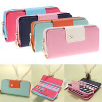 Fashion Lady Women Zip Leather Clutch Wallet Long Card Holder Case Purse Handbag