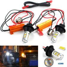 2pcs 1156 BAU15S 42 SMD 50W Switchback White/Amber LED Car DRL Turn Signal Light