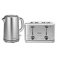 Brabantia 1.7L S/S Cordless 2400W Electric Kettle & 4 Slice Bread Toaster Set