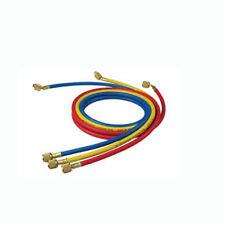 JUEGO 3 MANGUERAS CARGA 1/4 1/4 X 1,5M GAS REFRIGERANTE CFC HFC HCFC FLUORADOS
