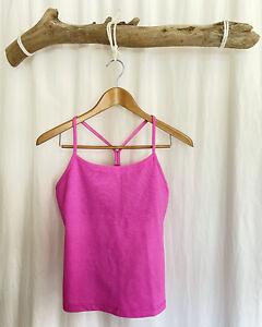 Women's Pink Lululemon Power Y Yoga Tank, Size 8