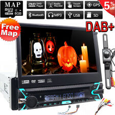 Backup Camera+GPS Single 1Din Car Stereo Radio CD DVD Player Bluetooth with Map/