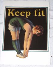 Postcard Keep Fit by Northwestern Yeast Company Magic Yeast Cakes Unpost B1G2F
