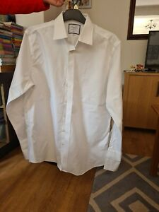 "Mens Dress Shirt Slim Fit 17"" Collar"