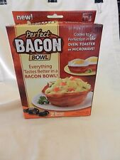 Perfect Bacon Bowl -- 2 Bacon Bowls for Oven, Toaster or Microwave