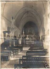 4212/Original Photo 13x17cm, Church in Pont L' EVEQUE, Northern France, CA. 1917