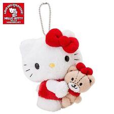 Japan SANRIO 40th Anniversary Hello Kitty x Tiny Cham Plush Mascot Keychain